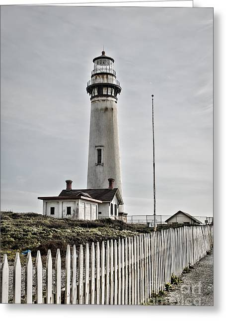 Lighthouse Greeting Card by Heather Applegate