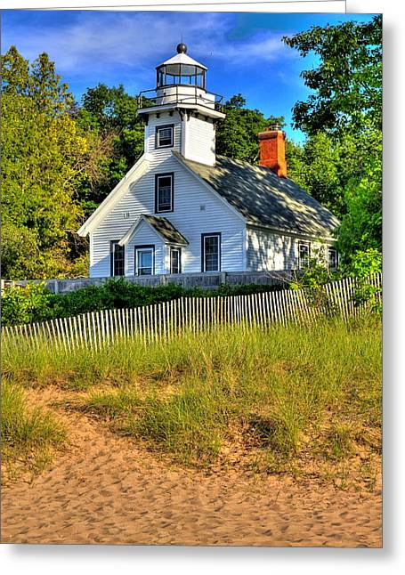 Greeting Card featuring the photograph Lighthouse Home by Coby Cooper