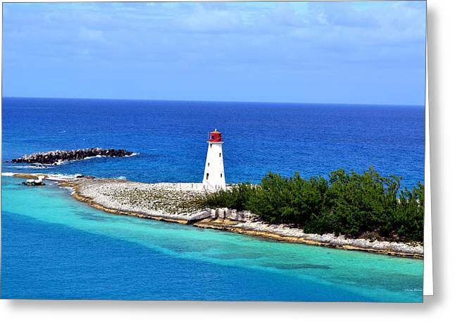 Greeting Card featuring the photograph Lighthouse In Nassau by George Bostian