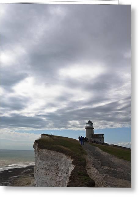 Lighthouse Greeting Card by Maj Seda