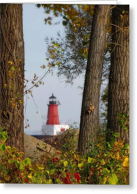Lighthouse Mist Greeting Card