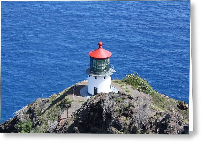 Lighthouse Greeting Card by Natalija Wortman