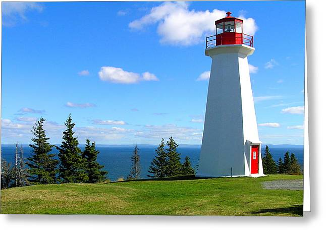 Lighthouse On Nova Scotia Greeting Card