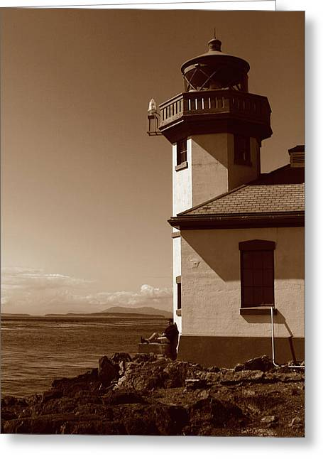 Greeting Card featuring the photograph Lighthouse San Juan by Lorraine Devon Wilke