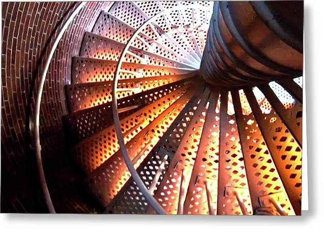 Lighthouse Spiral Greeting Card by Artistic Photos