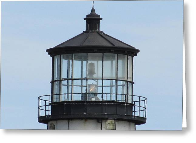 Lighthouse Visit Greeting Card by Loretta Pokorny
