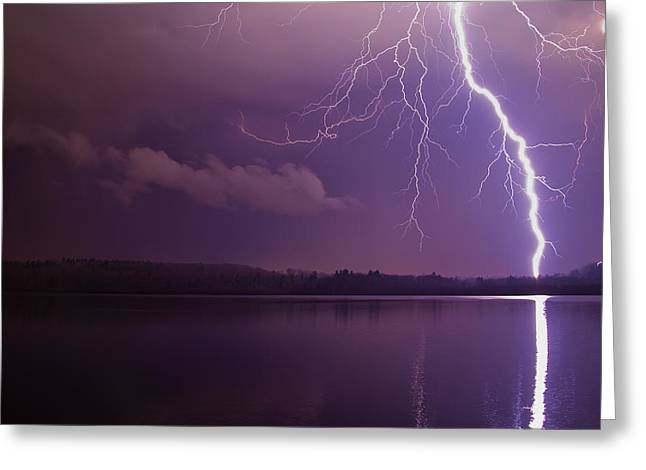Lighting Over Massapoag Greeting Card