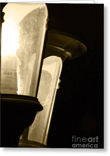 Greeting Card featuring the photograph Lighting The Way by Gary Brandes