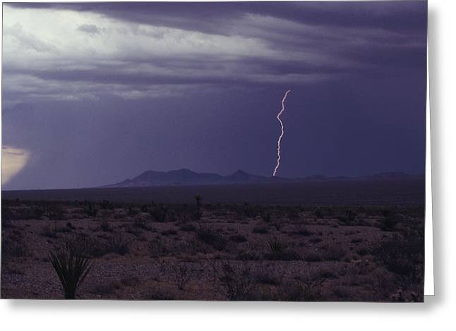 Lightning Bolt During A Storm In An Greeting Card