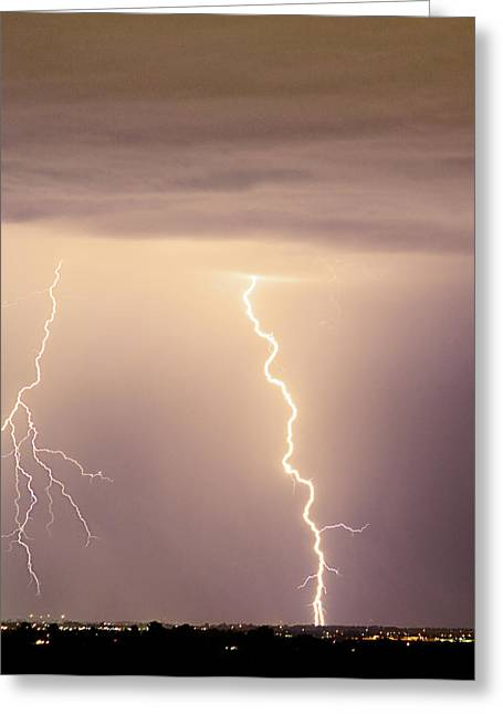 Lightning Bolt With A Fork Greeting Card by James BO  Insogna