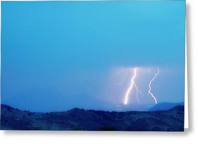 Lightning Bolts Hitting The Continental Divide Crop Greeting Card by James BO  Insogna