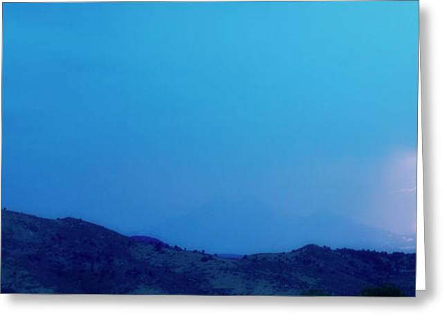 Lightning Bolts Hitting The Rocky Mountains Continental Divide Greeting Card by James BO  Insogna