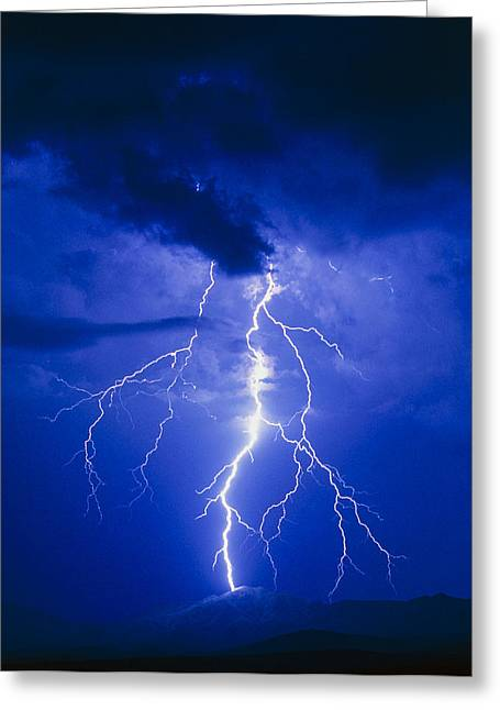 Lightning In Arizona, Usa Greeting Card
