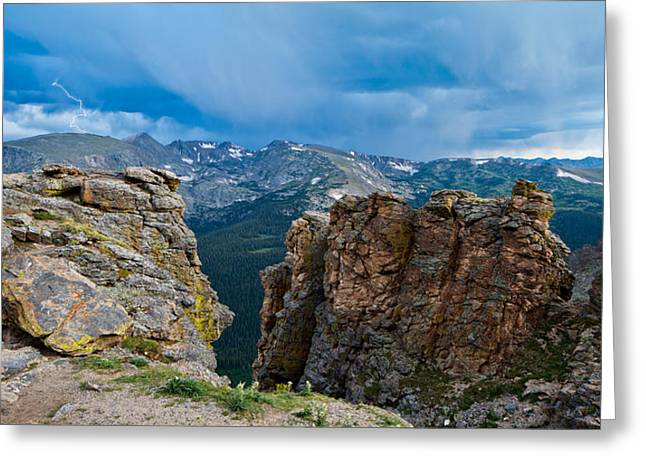 Lightning In Rocky Mountain Greeting Card