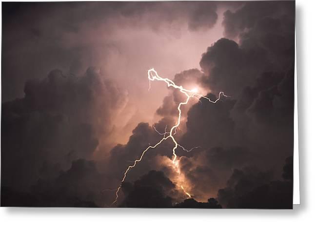 Lightning Man Greeting Card by Paul Madura