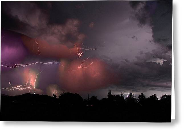 Lightning Pioneeer Valley Arizona July 21 2012 Greeting Card by Brian Lockett
