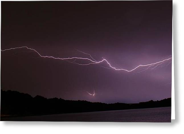 Lightning Streak Greeting Card by Alexander Spahn