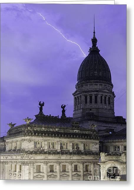 Lightning Strike Greeting Card by Balanced Art