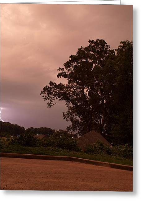 Lightning Strike In Mississippi Greeting Card by Joshua House