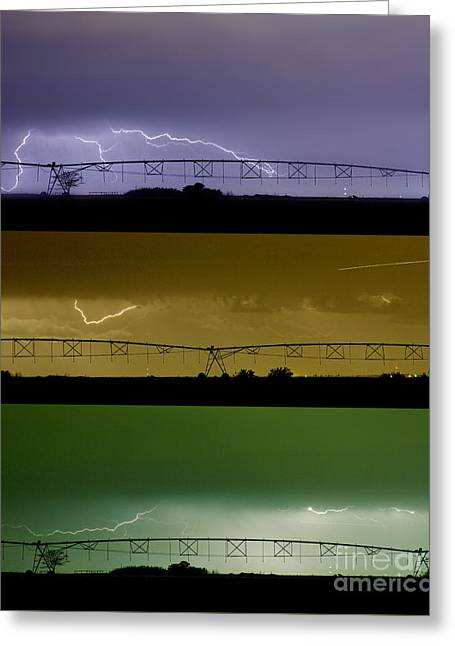 Lightning Warhol  Abstract Greeting Card by James BO  Insogna