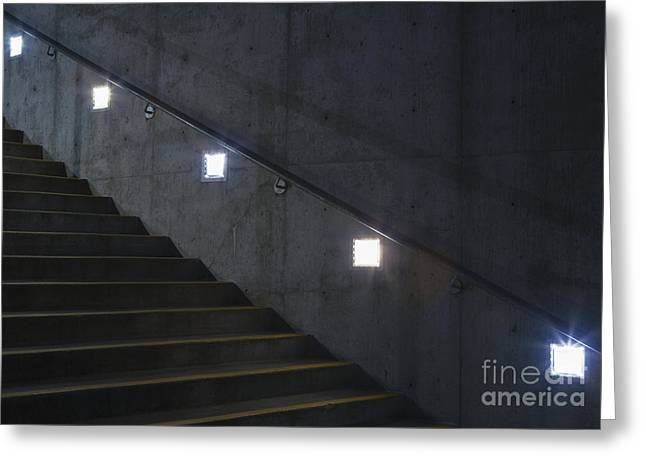 Lights And Stairs Greeting Card
