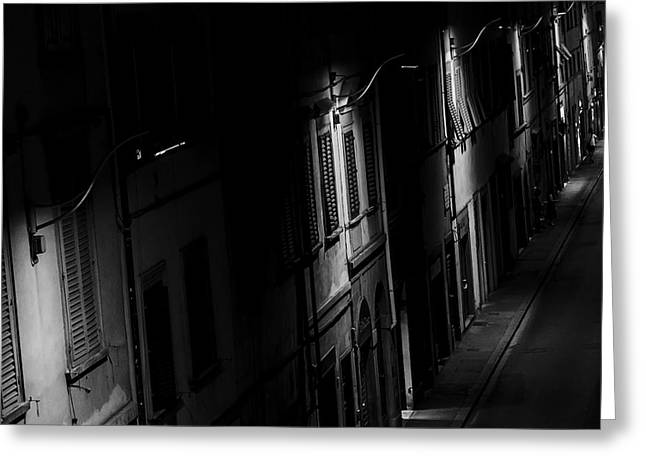 Lights In The Night Greeting Card by Celso Bressan