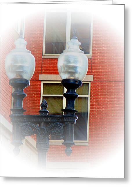 Lights Of Boston Greeting Card by Marie Jamieson