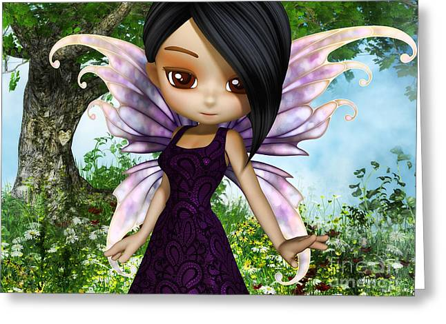 Lil Fairy Princess Greeting Card by Alexander Butler