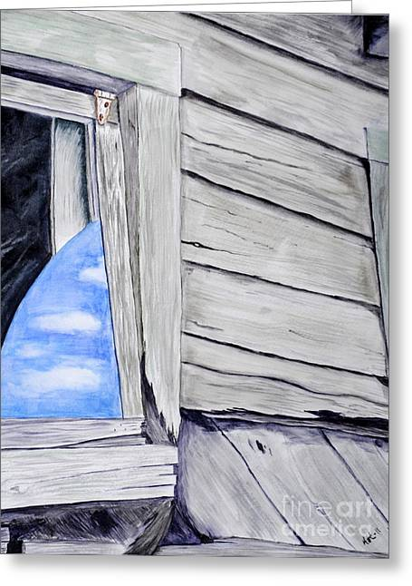 Lil House Greeting Card by Art Hill Studios