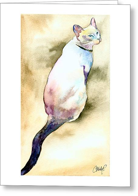 Lilac Point Siamese Cat Greeting Card