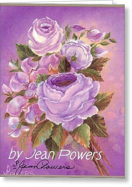 Lilac Rose Greeting Card by Jean Powers