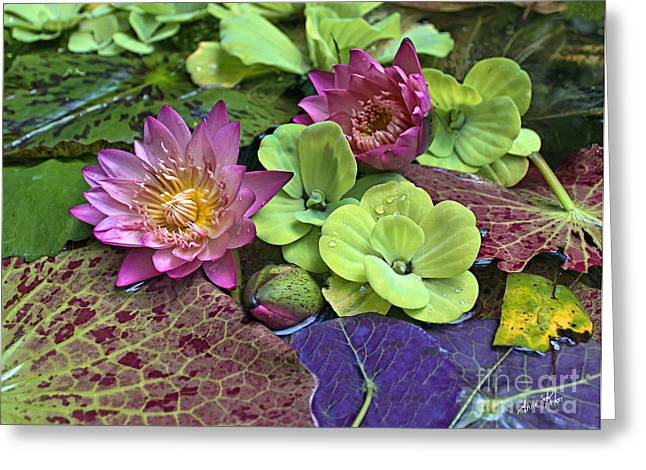 Greeting Card featuring the photograph Lilies No. 33 by Anne Klar