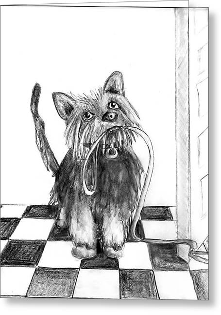 Lillie By The Door Greeting Card by Carol Allen Anfinsen