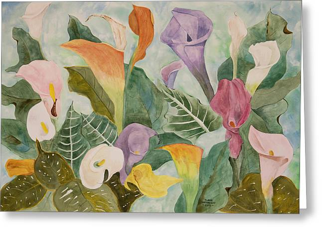 Lillies For Lilly Greeting Card by Diane Vasarkovy