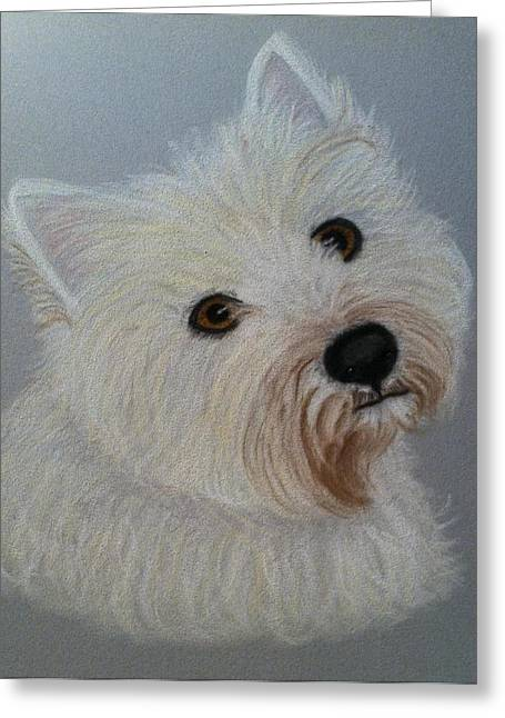 Lilly A Pastel Portrait Greeting Card by Hillary Rose