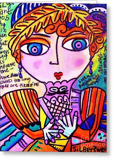 Lily Bart Greeting Card by Sandra Silberzweig