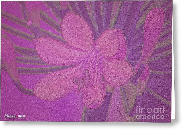 Lily Fleur Line Greeting Card
