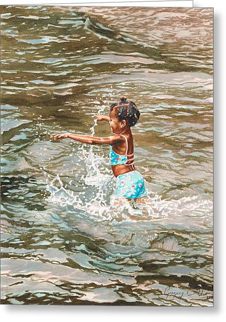 Lily Greeting Card by Gregory Jules