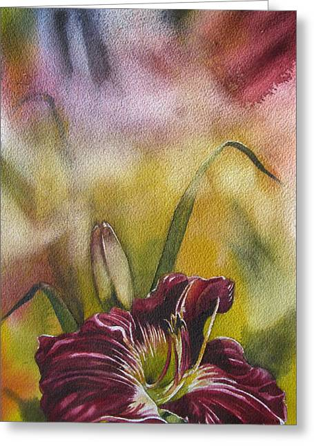 Lily In Red Greeting Card