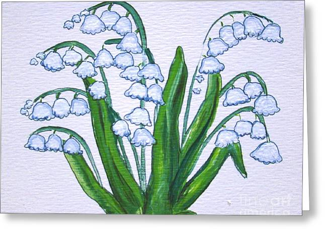 Lily-of-the-valley In Full Glory Greeting Card by Leea Baltes
