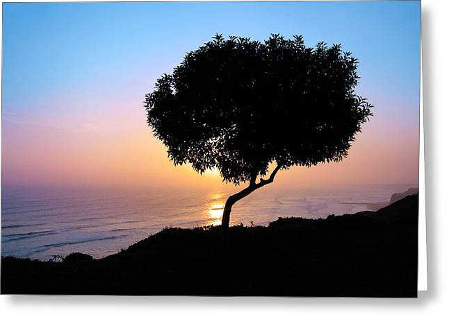 Lima Sunset Greeting Card