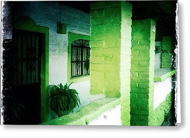 Lime Green & White House (puerto Greeting Card
