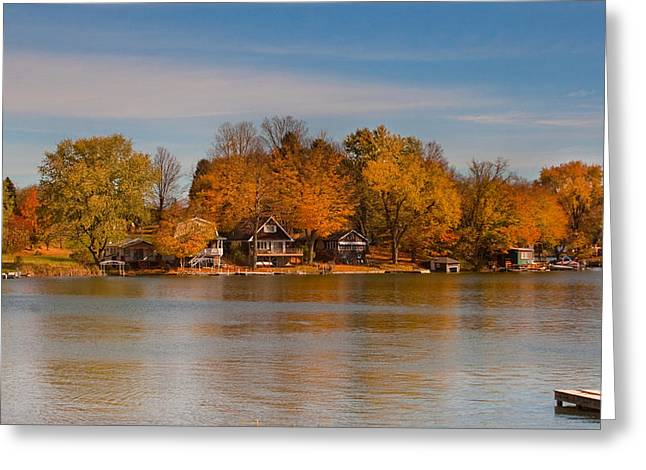 Lime Lake Greeting Card by Cindy Haggerty