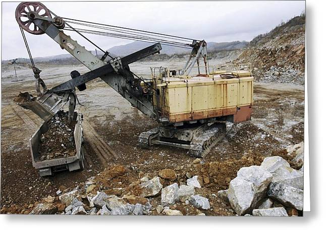 Limestone Quarry At Cement Works Greeting Card
