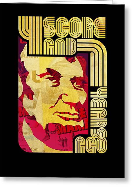 Lincoln 4 Score On Black Greeting Card