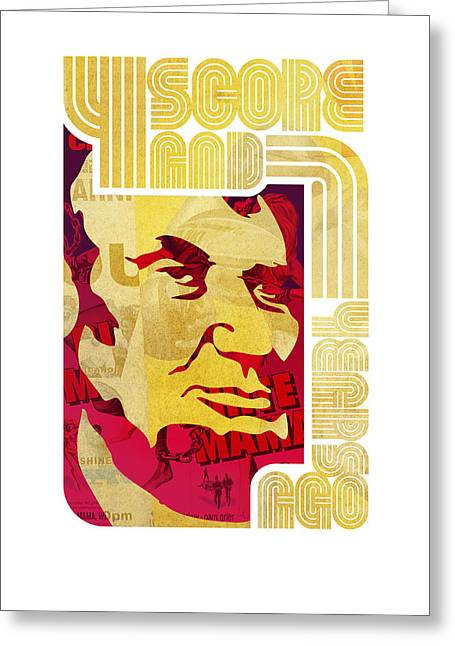 Lincoln 4 Score On White Greeting Card