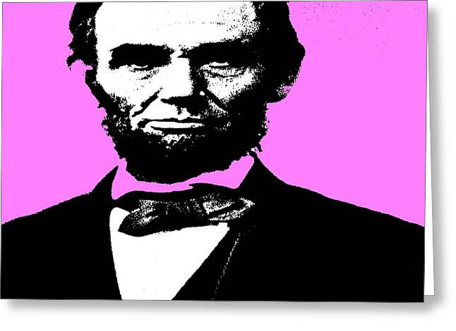 Greeting Card featuring the digital art Lincoln by George Pedro