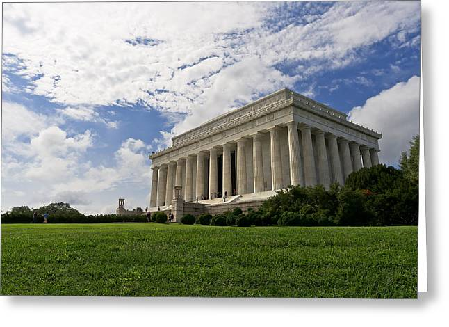 Lincoln Memorial And Sky Greeting Card