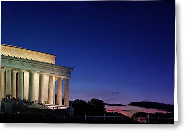 Greeting Card featuring the photograph Lincoln Memorial At Sunset by Metro DC Photography