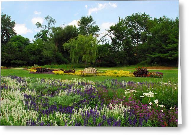 Lincoln Park Gardens Greeting Card by Lynn Bauer